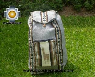 Big alpaca travel backpack Silver