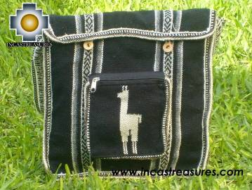 Alpaca Handbag MESSENGER black