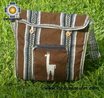 Alpaca Handbag MESSENGER chocolate