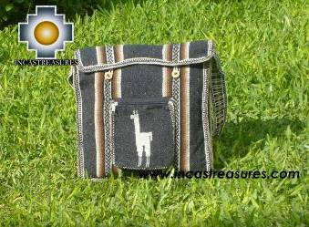 Alpaca Handbag MESSENGER dark grey