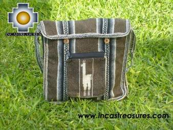 Alpaca Handbag MESSENGER earth