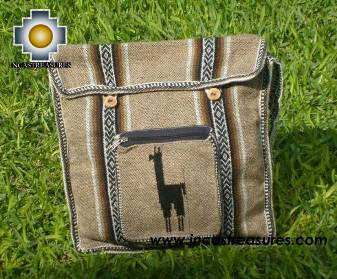 Alpaca Handbag MESSENGER light brown