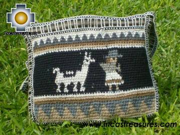 handmade handbag alpaca sheep ANDEAN NIGHT