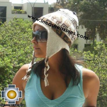 Reversible Chullo Hat andean waves Cerro Baul