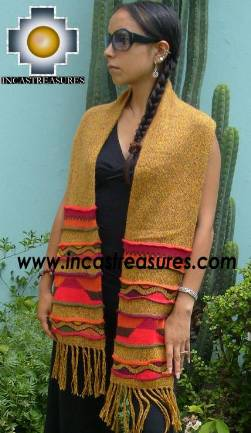 100% Alpaca Scarf with Andenes Antisuyo