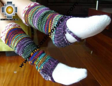 Alpaca Leg Warmers Sunset