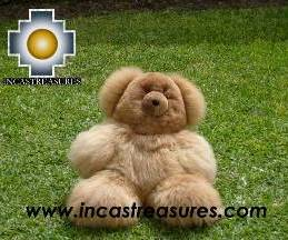 "100% Baby Alpaca Big and Soft Brown Teddy Bear ""BROWNIE"""