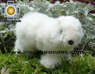 "100% Baby Alpaca, Adorable Polar Bear ""COPITO"""