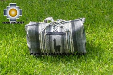 Alpaca Travel bag medium AMAUTA silver